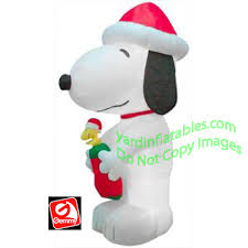 peanuts airblown inflatables 10 snoopy with woodstock
