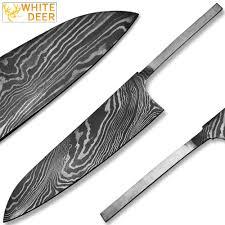 damascus steel kitchen knives white deer damascus steel chef knife blank blade edge import