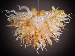 Orange Glass Chandelier Good Art Glass Chandelier 11 For Interior Decor Home With Art