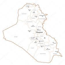 iraq map vector iraq outline map stock vector tupungato 24049401
