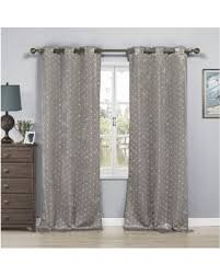 Silver Window Curtains Great Deals On Duck River Ellie Kelvin Metallic Blackout Grommet