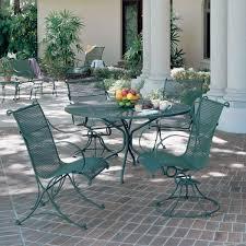mesh wrought iron patio furniture creative green wrought iron patio furniture of large garden