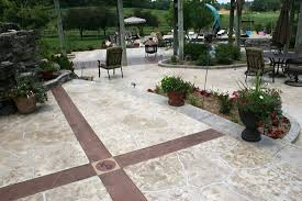 Backyard Concrete Patio Stamped Pool Deck Photo Gallery