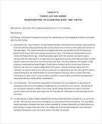 8 reunion agenda templates free sample example format download