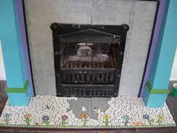 Mosaic Tile Fireplace Surround by Mosaic Fireplace Mosaic Art Supply