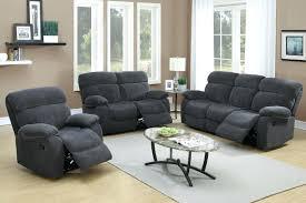 light grey recliner chair compact divani casa donovan modern black