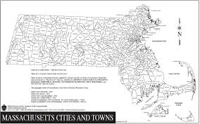 Map Of Massachusetts Counties by Untitled
