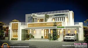 contemporary home design plans flat roof contemporary home exterior plan kerala design house deck