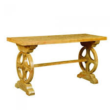 Wagon Wheel Coffee Table by Mango Wagon Wheel Console Table