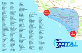 La Zip Code Map Map Coverage Total Transportation And Distribution