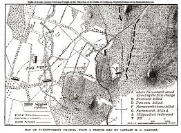 Gettysburg Map General Elon J Farnsworth Farnsworth U0027s Charge
