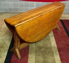 brandt furniture of character drop leaf table vintage antique brandt ranch oak large round drop leaf dining table