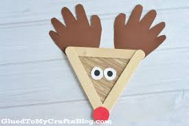 popsicle stick reindeer kid craft glued to my crafts