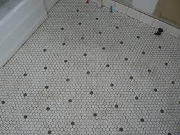 light grey hexagon tile black and white hexagon tile floor and light grey grout with black