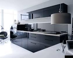 deco cuisine noir et blanc deco cuisine gris et noir carrelage en blanc 22 newsindo co