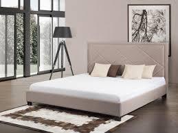 Marseille Bedroom Furniture Upholstered Bed With Frame 160x200cm Marseille Beige
