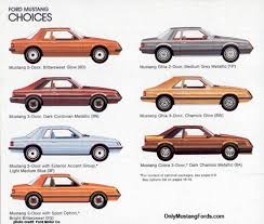 different mustang models 1980 mustang