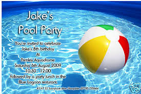 swimming pool invitations templates neepic