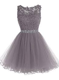 dress photo grey lace up knee length prom dress 2017 on luulla