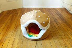 hamburger dog bed dog beds with removable covers the cats paw hamburger cat and