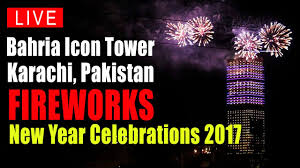 new year s celebrations live fireworks new years pakistan bahria town karachi