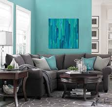 contemporary abstract painting teal aqua seafoam green