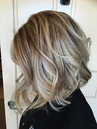 shades of high lights and low lights on layered shaggy medium length ready for fall winter is coming soft smokey blonde highlights