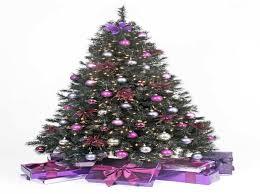 Blue And Silver Christmas Tree - purple christmas trees decorated u2013 happy holidays