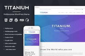 Titanium Business Cards Titanium Premium Wordpress Theme Wordpress Business Themes
