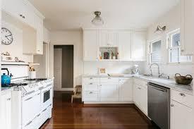 antique white kitchen cabinets with subway tile backsplash best 60 modern kitchen subway tile backsplashes undermount