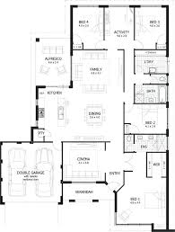 single story house plan plans 4 bedroom single story house plans