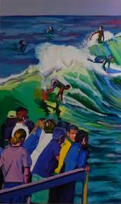 Surf Mural by Surf Painting Sarah Stieber Contemporary Art