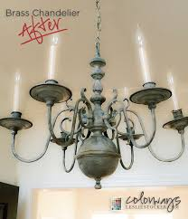 Painted Chandelier 21 Transforming A Brass Chandelier With Chalk Paint And