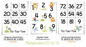 multiplication tic tac toe fun math game onecreativemommy com