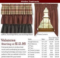 Prairie Curtains Window Treatments Primitive Home Decors
