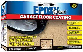amazon com rustoleum 251966 epoxy floor coating kit tan gloss