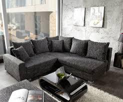 ecksofa mit ottomane sofa lavello couch schwarz 210x210 mit hocker ottomane rechts ecksofa