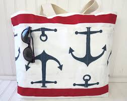 nautical bags bags etsy