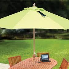 usb charging solar market umbrella the green head