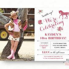 cowgirl birthday party invitations u2013 gangcraft net
