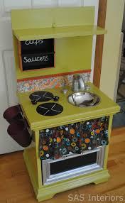 homemade play kitchen ideas do it yourself easy to create kids play kitchen via sasinteriors