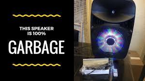 blackweb lighted bluetooth speaker review blackweb bluetooth speaker 1500 watt review do not buy youtube