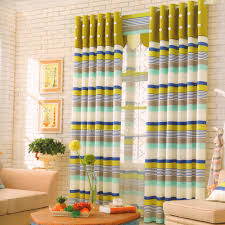 Multi Color Curtains Modern Striped Pattern Multi Color Bedroom Curtains 2016 New Arrival