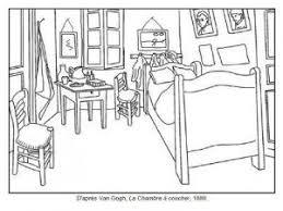 chambre à coucher gogh 71 coloriages d œuvres d artistes peintres à imprimer le