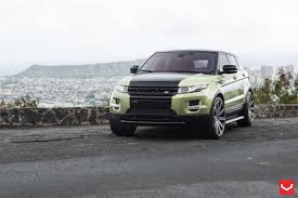 green range rover built to impress range rover evoque with custom touches and