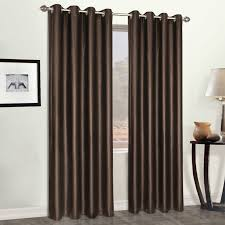 Grommet Window Curtains Faux Leather 52 X 95 Window Curtain Panel Brown Walmart