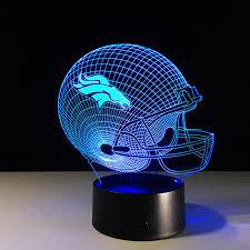 creative nfl denver broncos football telmet trophy illusion 3d