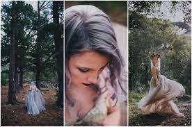 alternative bride in gold purple wedding dress rocking lilac