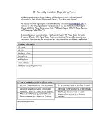 theft report form template 60 incident report template employee generic