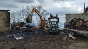 Barn Demolition Photos Day After Barn Fire In Oley Wfmz